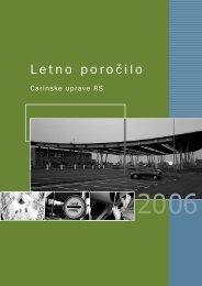 Letno poročilo Carinske uprave RS 2006 - Carinska uprava ...