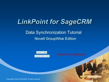 LinkPoint for SageCRM - LinkPoint 360