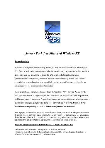 Service Pack 2 de Microsoft Windows XP - JEUAZARRU.com