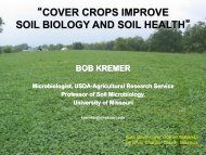 cover crops improve soil biology and soil health - Indiana CCA ...