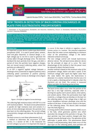 new trends in detection of back-corona discharges in plate-type ...