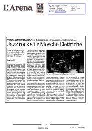 JazzrocksoleMoscheElettriche - Verona Contemporanea Festival