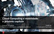 Cloud Computing e mobilidade - Autodesk International Communities