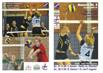 Auszeit Nr. 5 2009/2010 - SV Bad Laer Volleyball