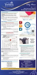 News for the week of May 1 to May 7, 2013 - City of Yorkton