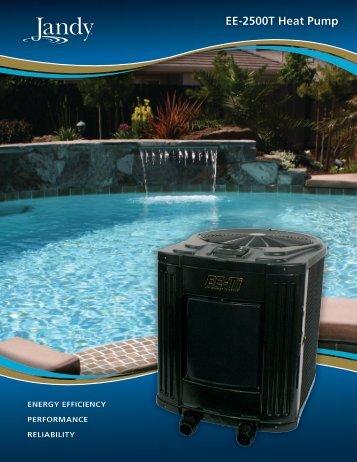 Jandy EE-2500T Brochure PDF - Poolheatpumps.com
