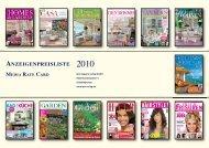 ANZEIGENPREISLISTE MEDIA RATE CARD - Ipm-Verlag