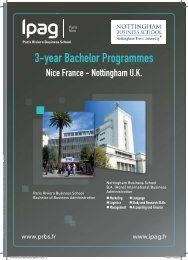 3-year Bachelor Programmes - IPAG Business School