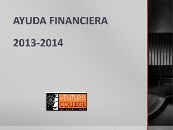 AYUDA FINANCIERA 2013-2014 - Ventura College