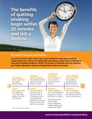 real health benefits of quitting smoking - Providence Health Plan ...