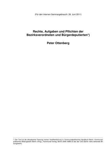Rechte, Aufgaben und Pflichten der Bezirksverordneten ... - pf-cw.de