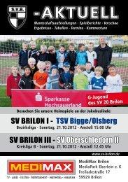4. Ausgabe vom 21.10.2012 (PDF 6,80MB - SV 20 Brilon