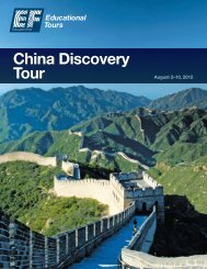 China Discovery Tour - EF Educational Tours