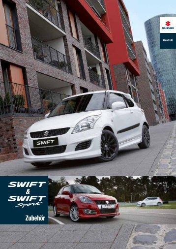 SWIFT und SWIFT SPORT Zubehörprospekt
