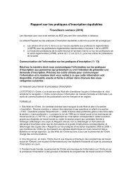 Rapport sur les pratiques d'inscription équitables - Ontario College ...