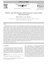Thermo- and fluid dynamics characterization of spray cooling with ...