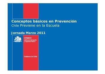 Conceptos básicos en Prevención Chile Previene en la ... - Senda