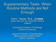 Supplementary tests – when routine methods are not enough - eucast