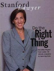 Summer 2003 – Issue 66 - Stanford Lawyer - Stanford University