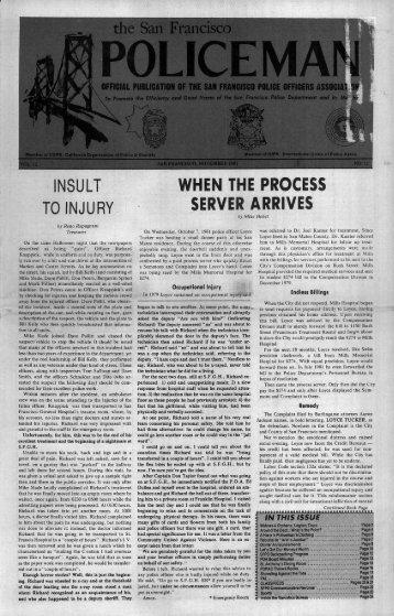 November 1981 - San Francisco Police Officers Association