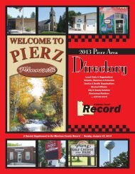 Pierz, Minnesota - The Morrison County Record