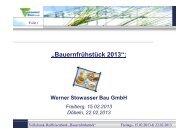 Bauweisen von Biogasanlagen durch die Werner Stowasser GmbH