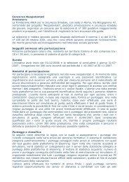 Concorso Neopatentati Promotore La Fondazione ANIA ... - Elaborare