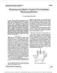 Modeling and adaptive control of a coordinate measuring machine ...