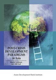 Post-crisis Development Paradigms in Asia - Asian Development ...
