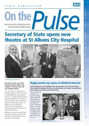 On the pulse february - West Hertfordshire Hospitals NHS Trust