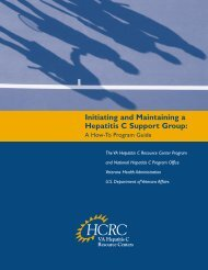 Initiating and Maintaining a Hepatitis C Support Group