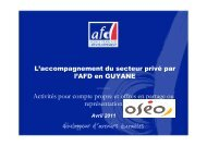 AFD-OSEO - Agence Française de Développement