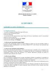 general divorce - Ambassade de France au Japon