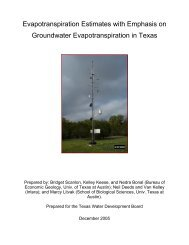 Evapotranspiration Estimates with Emphasis on Groundwater ...