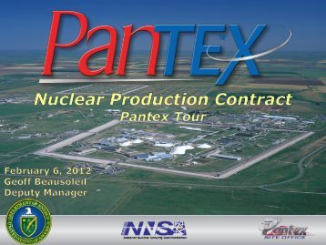 Pantex - National Nuclear Security Administration Service Center ...