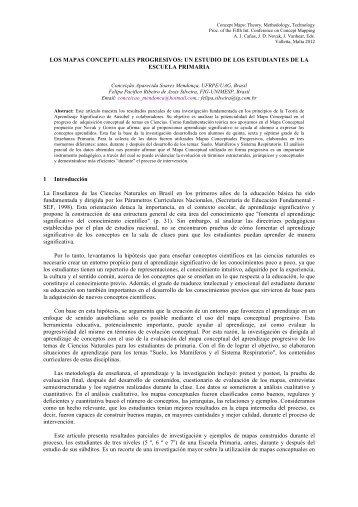 LOS MAPAS CONCEPTUALES PROGRESIVOS: UN ... - CMC