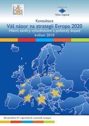 Váš názor na strategii Evropa 2020