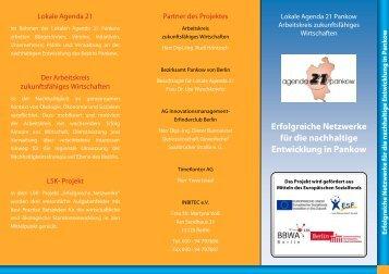 Erfolgreiche Netzwerke für die nachhaltige Entwicklung ... - Inbitec eV