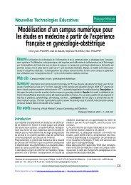 PDF (683.5 KB) - Pédagogie médicale