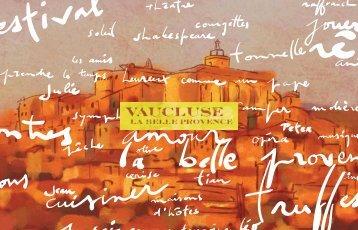 Couv Brochure image def - Un coin Tranquille en Provence L ...