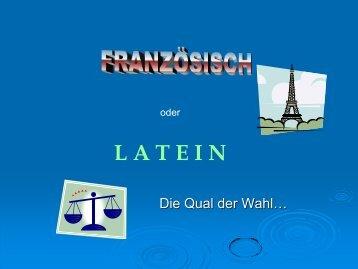Französisch oder Latein???