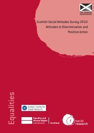 Attitudes to Discrimination and Positive Action - Scottish Government