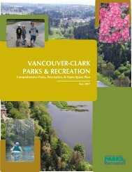 The Vancouver-Clark Parks, Recreation & Open ... - City of Vancouver
