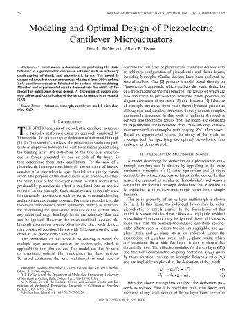 Modeling and optimal design of piezoelectric cantilever microactuators