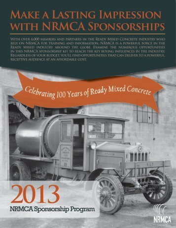 Make a Lasting Impression with NRMCA Sponsorships