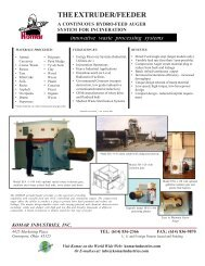 Extruder Feeder - Komar Industries