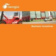 Georgia Tax Incentives Brochure - Chattooga County