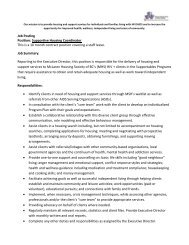 Job Posting Position: Supportive Housing Coordinator This is a 10 ...