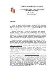 1 Cidadãs e Cidadãos Brasileiros no Exterior O Documento de ...