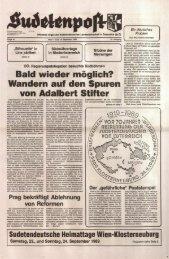 Wandern auf den Spuren von Adalbert Stifter - Sudetenpost